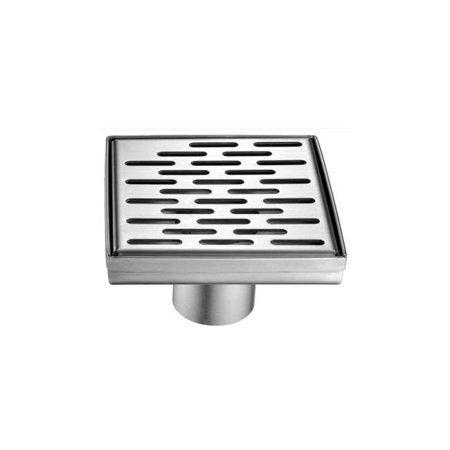 ALFI brand ABSD55C 5 x 5 in. Modern Square Stainless Steel Shower Drain with Groove Holes - image 1 of 1