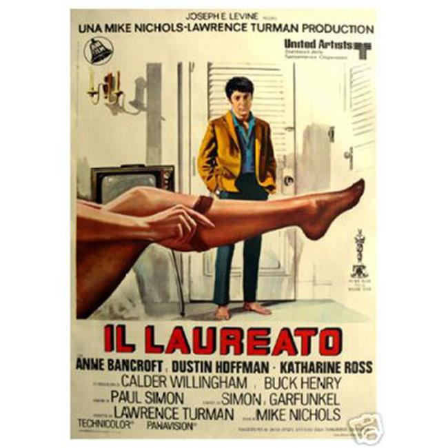 Hot Stuff Enterprise 3275-12x18-LM The Graduate Dustin Hoffman - Italian Poster