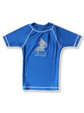 Azul Little Boys Royal Blue Short Sleeve Solid UPF 50+ Rash Guard