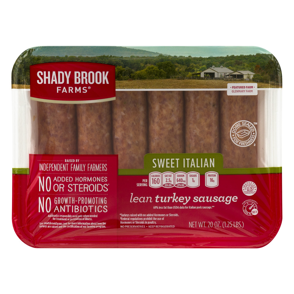 Shady Brook Farms Lean Turkey Sausage Sweet Italian, 20.0 OZ