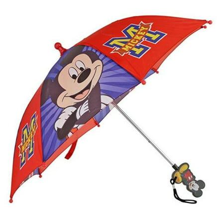 Disney Umbrella - Licensed Disney Mickey Mouse Boy's Red and Blue Umbrella