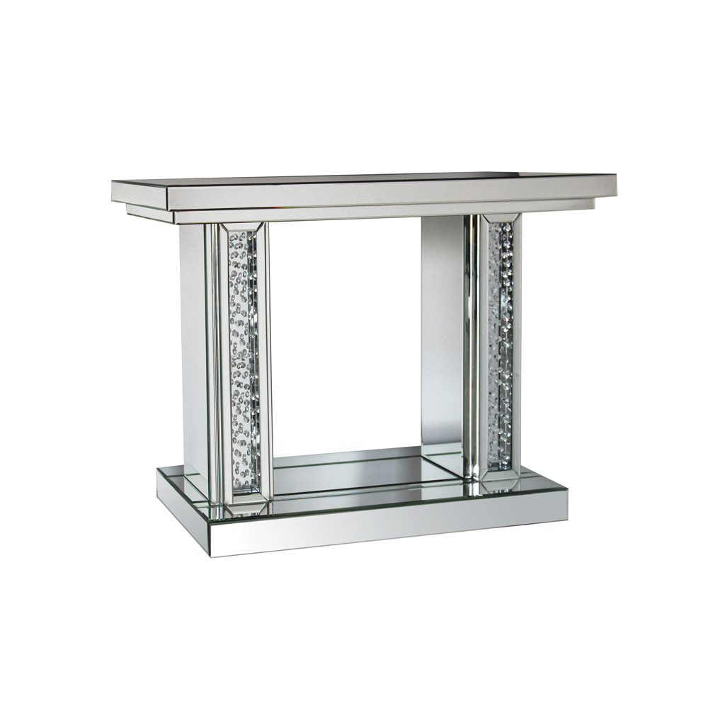 Acme Furniture Nysse Console Table, Mirrored by Acme Furniture