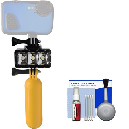 Precision Design WPL40 Waterproof Underwater Diving LED Video Light with Floating Buoy Handle Kit for Waterproof Point & Shoot, GoPro & Action