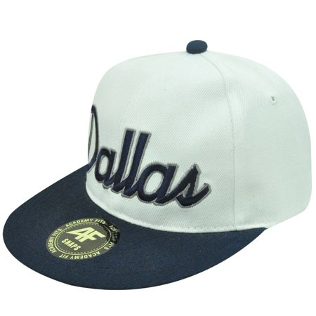 HAT CAP GORRA CHAPEU DALLAS TEXAS SNAPBACK ACADEMY FITS FLAT BILL WHITE  BLUE AF - Walmart.com 778104ffb13