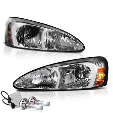 VIPMOTOZ OE-Style Headlight Headlamp Assembly For 2004-2008 Pontiac Grand Prix, Driver & Passenger Side 1990 Pontiac Grand Prix Coupe