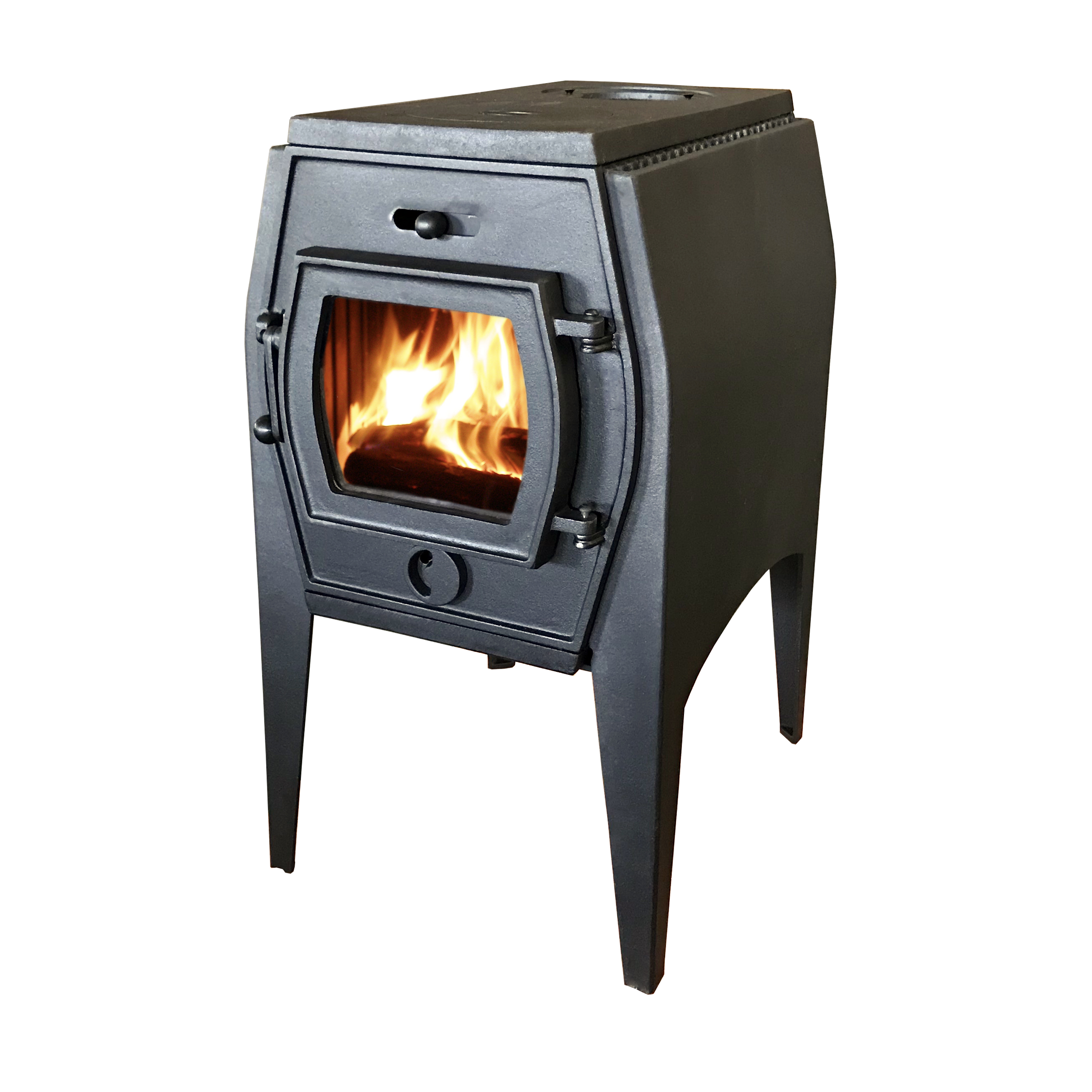 Hiflame HF706A cast iron mini wood stove with double shield for homely or outdoor