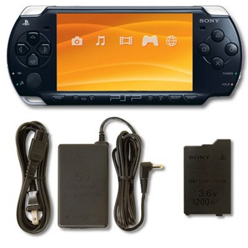 Refurbished PlayStation Portable PSP 2000 System Piano Black Handheld by