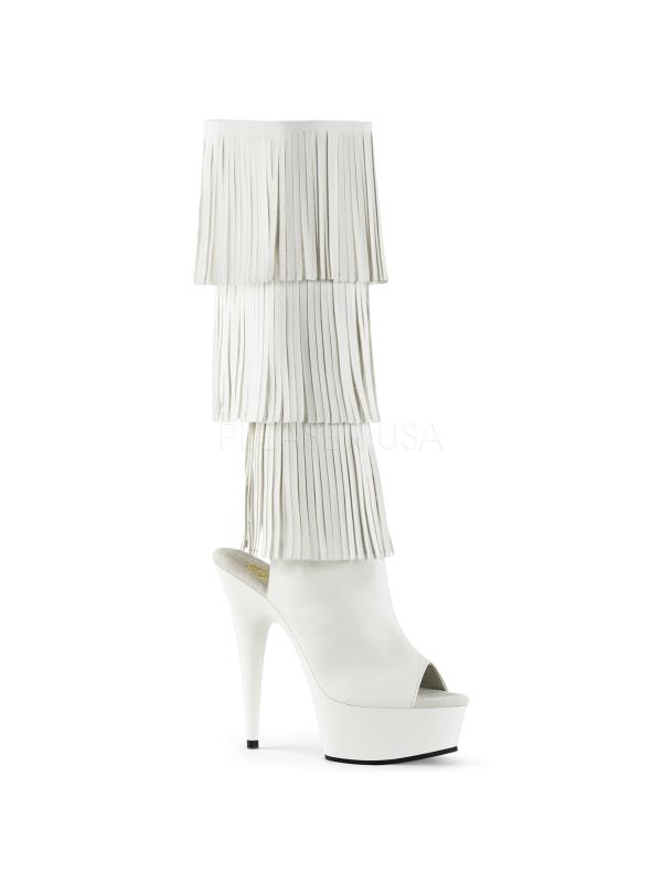 DELIGHT-2019-3 Pleaser High Platforms Exotic Dancing Knee High Pleaser Boots Size: 6 1584bc