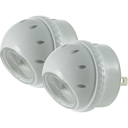 Automatic Bright Light - GE Automatic LED 360-Degree Rotating Night Light, 2-Pack, 50311