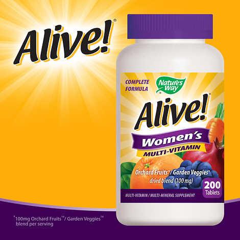 Alive! Women's Multi-Vitamin, 200 Tablets