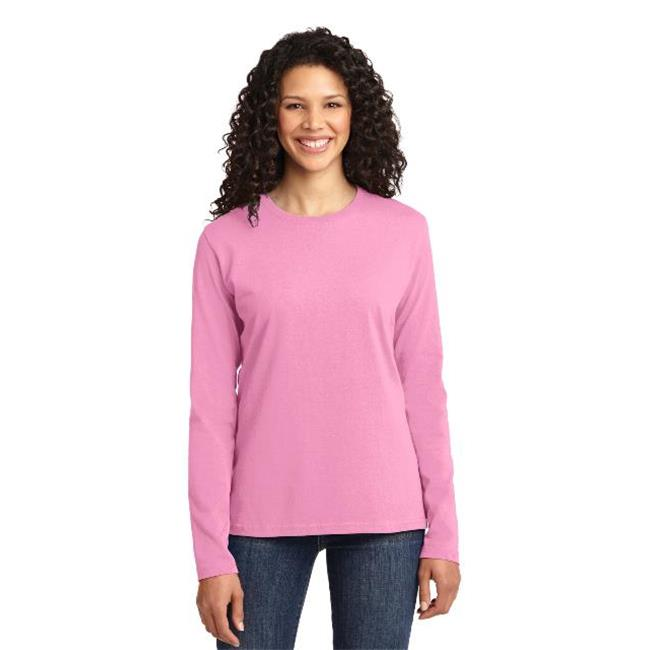 Port & Company® Ladies Long Sleeve Core Cotton Tee. Lpc54ls Candy Pink Xl - image 1 de 1