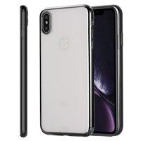 Mignove iphone XS Max case,crystal transparent reinforced corner + ultra-thin protection scratch-resistant damper cover soft TPU case for Apple iPhone XS Max (2018)Black