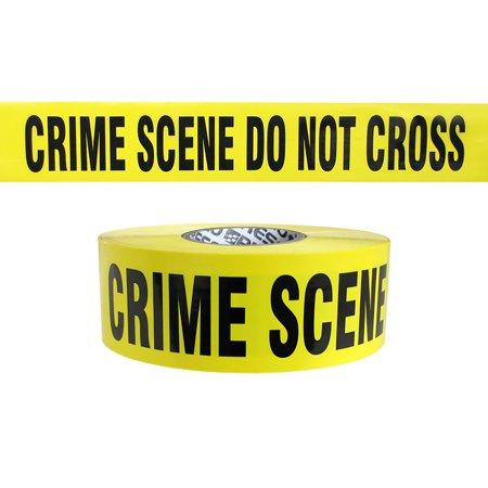 Do Not Cross Tape (Presco Premium Printed Barricade Tape: 3 in. x 1000 ft. (Yellow with Black
