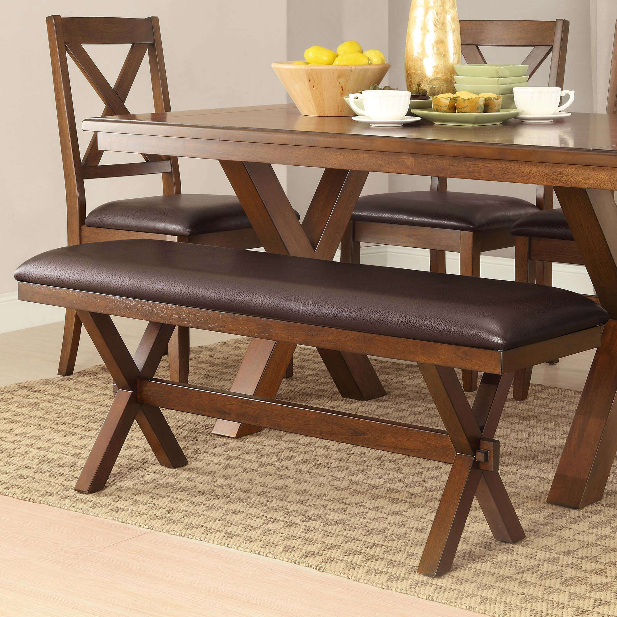Better Homes Gardens Maddox Crossing Dining Bench Espresso Finish Walmart Com Walmart Com