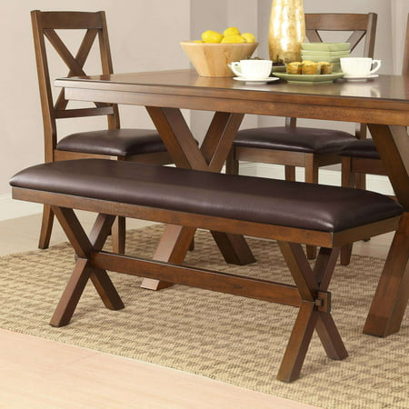 Better Homes & Gardens Maddox Crossing Dining Bench, Espresso ()