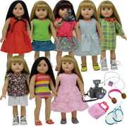 18 inch Doll Clothes and Doll Accessories Fits American Girl Doll - Doll Clothing Outfits Wardrobe Makeover