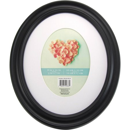 Mainstays 8x10 Matted to 5x7 Holmgren Oval Picture Frame - Walmart.com