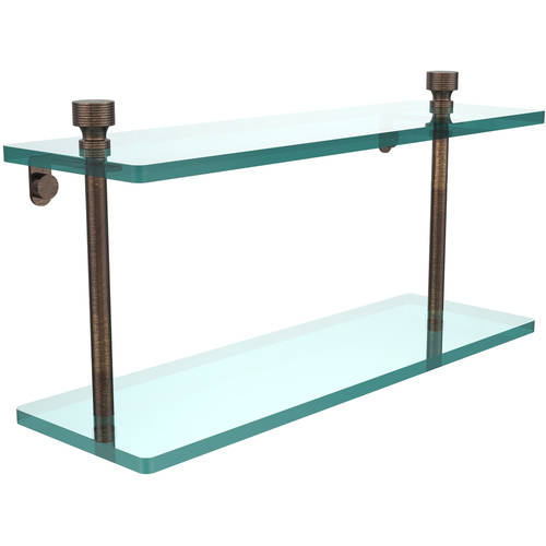 "Foxtrot Collection 16"" 2-Tiered Glass Shelf (Build to Order)"