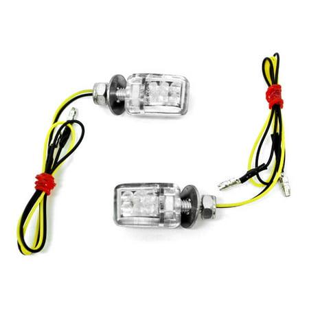 Mini Custom LED Turn Signal Indicator Lights Lamp For Yamaha 60 80 90 100 175 250 400 Enduro Motocross - image 5 de 5