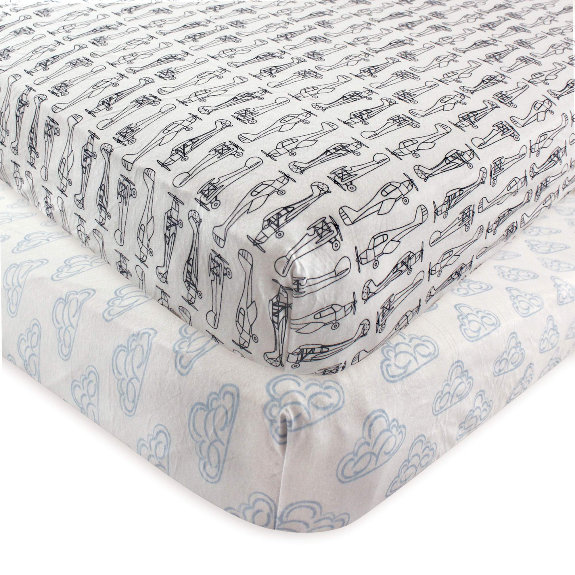 hudson baby boy and girl fitted crib sheet 2 pack whale walmart com