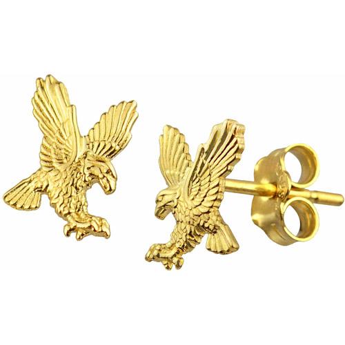 US GOLD 10kt Gold Eagle Stud Earrings