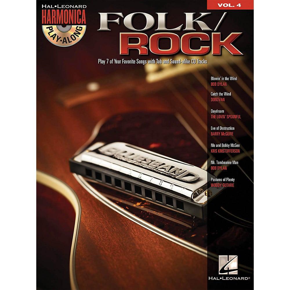 Hal Leonard Folk/Rock - Harmonica Play-Along Volume 4 (Book/CD)