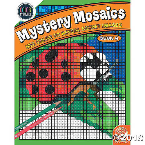 Color by Number Mystery Mosaics: (Book 4)](Easy Color By Number)