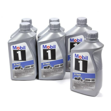 Mobil 1 20w50 V-Twin Oil Case 6x1 Qt Motorcycle