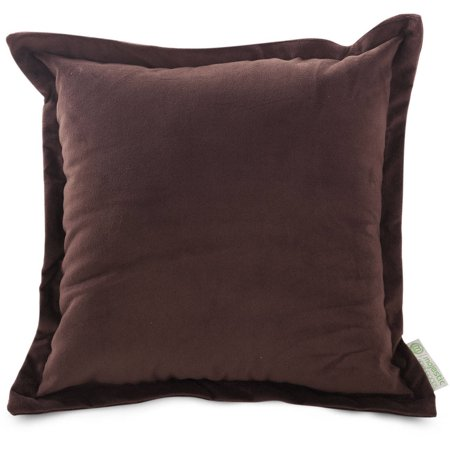 Extra Large Decorative Pillows : Majestic Home Goods Chocolate Velvet Extra Large Decorative Pillow, 24