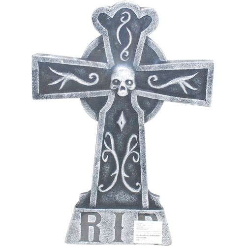 HT10H1225 Morris Costumes Tombstone Cross Lightup 24In