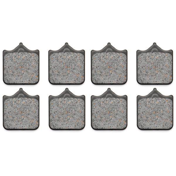 KMG Brembo Goldline (wire clip pad retention) (P4 34 B) Front Non-Metallic Organic NAO Disc Brake Pads