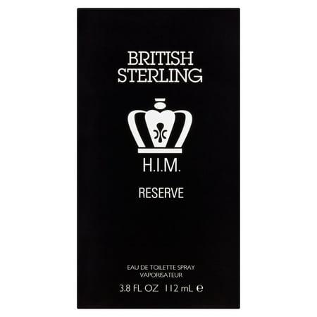 British Sterling H I M  Reserve Eau De Toilette Spray 3 8 Fl Oz