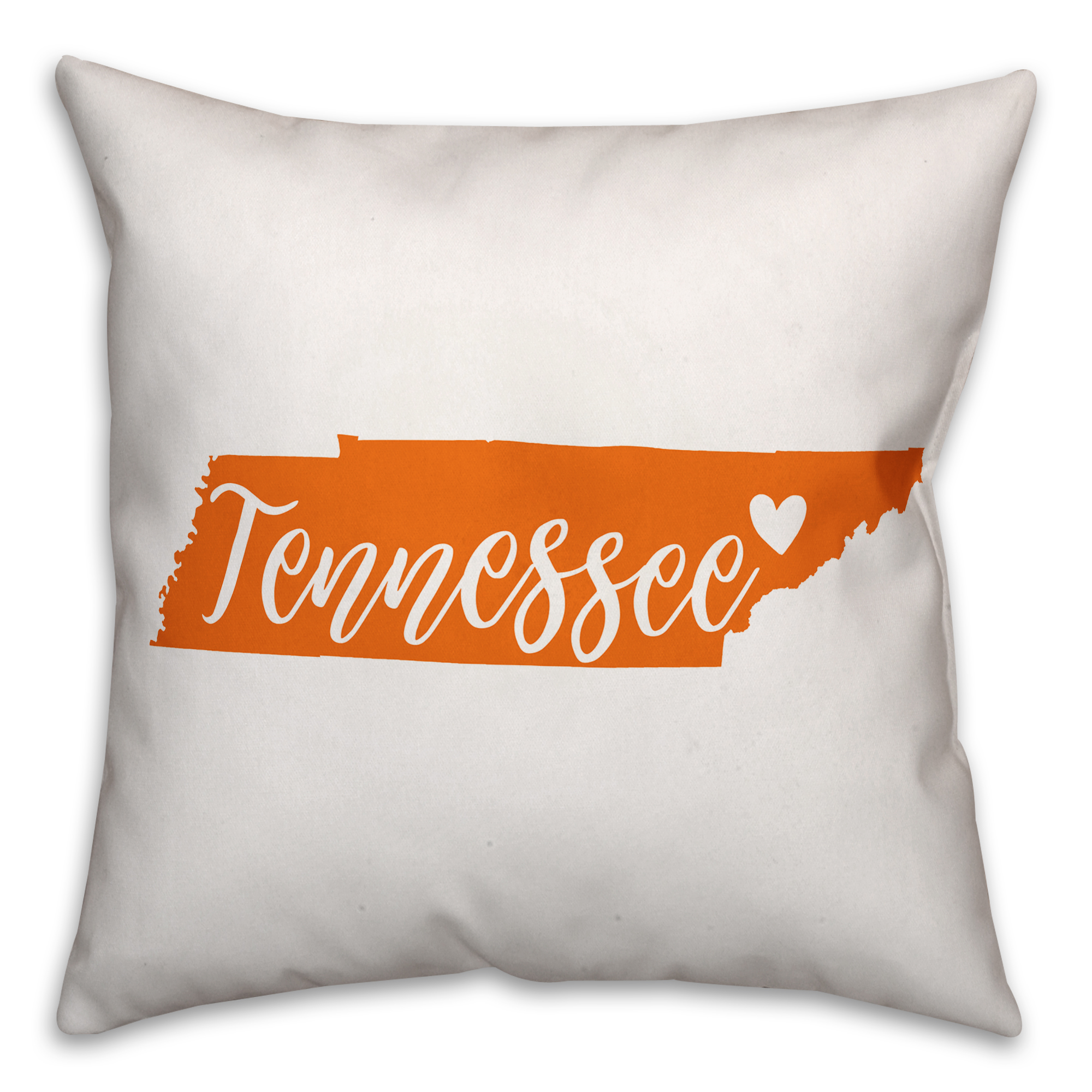 Orange and White Tennessee Pride 16x16 Spun Poly Pillow