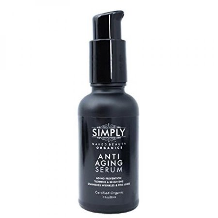 Best Anti Aging Serum / Cream - Certified Organic - New Advanced Natural Formula by Simply Naked