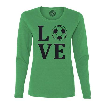 Love Soccer Sports Jersey Womens Long Sleeve T Shirt