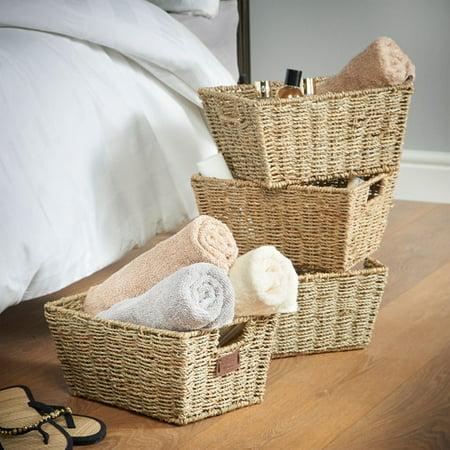 VonHaus Seagrass Storage Basket (Set of - Storage Baskets Walmart