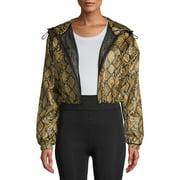 Kendall + Kylie Women's Snakeskin Windbreaker Jacket