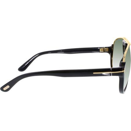 93ceb1fe511da Tom Ford Men s Gradient Dimitry FT0334-01P-59 Black Aviator Sunglasses -  image 1 ...