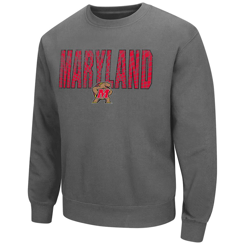 Mens Maryland Terrapins Crew Neck Sweatshirt by Colosseum