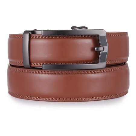 """Mio Marino Ratchet Click Belts for Men - Mens Comfort Genuine Leather Dress Belt - Automatic Buckle - Style 185 - Adjustable from 28"""" to 54"""" Waist"""