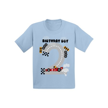 Awkward Styles Birthday Boy Race Car Toddler Shirt Race Car Birthday Party for Toddler Boys Funny Birthday Gifts for 2 Year Old 2nd Birthday T Shirt Second Birthday Outfit Race Tshirt for Birthday Boy - Gift Ideas 11 Year Old Boy