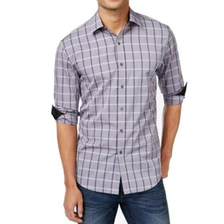 Tasso elba new lilac purple mens size 2xl 18 18 1 2 dress for Mens lilac dress shirt