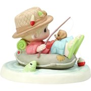 Precious Moments, Good Things Come To Those Who Wait Bisque Porcelain Figurine, 154053