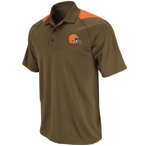 NFL - Cleveland Browns Crossbar Performance Brown Polo Shirt
