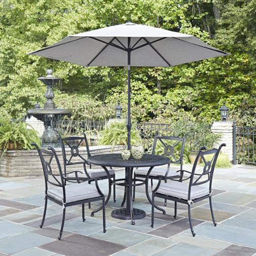 Home Styles Athens 5-piece Dining Set with Arm Chairs without umbrella