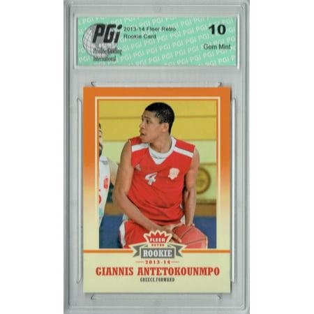 Giannis Antetokounmpo 2013 Fleer Retro #47 Rookie Card PGI 10