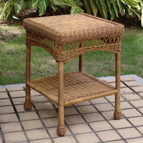 Sahara All-Weather Outdoor Wicker End Table