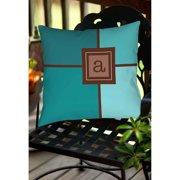 Thumbprintz Grid Monogram Teal Decorative Pillows