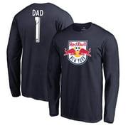 New York Red Bulls Fanatics Branded #1 Dad Long Sleeve T-Shirt - Navy