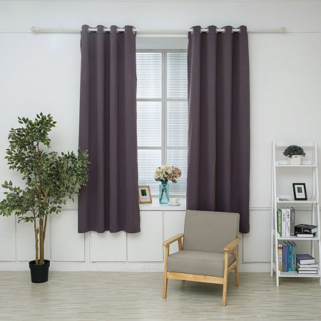 DL furniture - Triple Weave Thermal Insulated Blackout Grommet Window Curtain 53